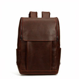 $enCountryForm.capitalKeyWord NZ - New retro mens bags crazy horse leather men travel backpack in Europe and the leisure outdoor large capacity color matching men backpack
