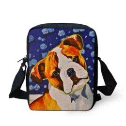 Ingrosso 2016 Marca Animal Pug Dog Stampa Messenger Bag per le donne Mini adolescente ragazze Crossbody Bag bambini Kid Outdoor borsa da viaggio Bolsas