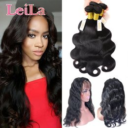 Wholesale Body Wave Brazilian Human Hair Products With Lace Frontal Closure Brazilian Virgin Hair Bundles with Lace Frontal Closure