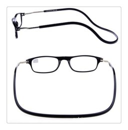 Hanging Eyeglasses Canada - Fashion Magnetic Glasses can hung around the neck Front magnet Connect Reading Glasses Brand Design Diopter Reading eyeglasses(7)