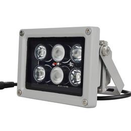 Toptan satış 12 V 60 m 6 ADET LED Array IR aydınlatıcı kızılötesi lamba Led Işık Açık Su Geçirmez CCTV kamera Gözetleme kamera için 6 arrey IR ışık