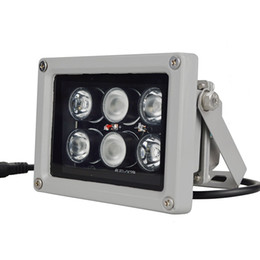 Vente en gros 12V 60m 6 PCS LED Array IR lampe infrarouge lampe Led lumière extérieure étanche pour caméra de vidéosurveillance Caméra de surveillance 6 lumière arrey IR