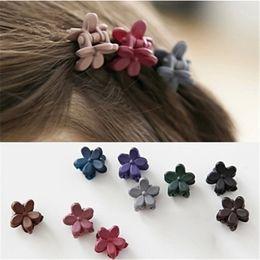 Korea Child Hair Canada - Wholesale- 1 bag 10 Korea hair accessories hairpin small flowers gripper original Korean children hair clip bangs wholesale