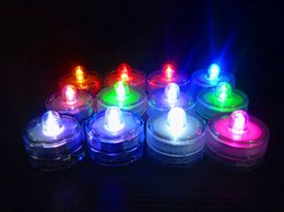 Waterproof Electronics Canada - Waterproof Submersible LED Tea Lights Electronic Candles Light For Wedding Birthday Party Vase Lamp Decoration ZJ0081
