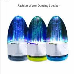 led dancing water wireless bluetooth NZ - F1 wireless Bluetooth Water Dancing Speaker Subwoofer LED light Music Speaker With TF Card Stereo Bass For Iphone Android phone PC