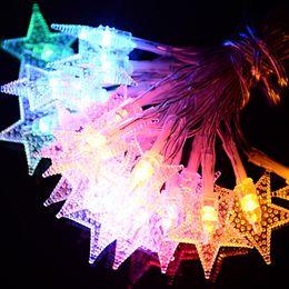 $enCountryForm.capitalKeyWord NZ - Christmas gift 10M LED fairy string Xmas decoration Snow star strip USB  EU  US  Dry battery operated