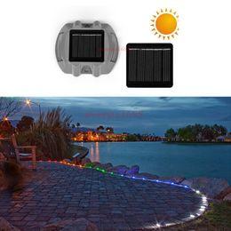 lighting for backyard 2019 - Solar Dock Light Dock Path Road Long Service Time LED Light Outdoor Warning Step Lights for Driveway Garden Walkway Back
