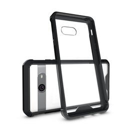 Chinese  For Galaxy A3 A5 A7 2017 Transparent Shockproof Acrylic Silicone Hard Clear Phone Cover Cases For Galaxy J3 J5 J7 2017 manufacturers