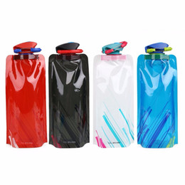 sports ice bag 2019 - Creative 700ml Cartoon Flexible Collapsible Foldable Reusable Sport Water Bottles Ice Bag Outdoor Folding Sports Water B
