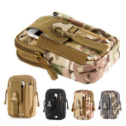 iphone 5.5 cases Australia - Advocator Men 5.5' Camouflage Nylon Outdoor Tactical Holster Military Molle Hip Waist Belt Bag Wallet Pouch Purse Phone Case for iphone sams
