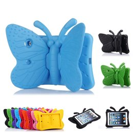 kids safe case 2019 - Kids Safe EVA Shockproof Case Cartoon 3D Butterfly Stand Table Case for New iPad 9.7 5 6 Mini 1 2 3 4 Samsung 7inch OPP