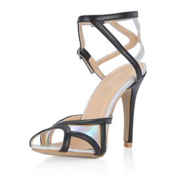 cheap high heel stilettos UK - Fashion Women Sandals Shoes Real Image Peep Toe High Heels Summer Style Party Shoes Black Cheap Modest Hot Sale Summer Sandal