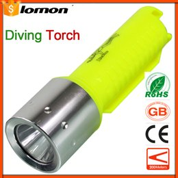 dive flashlight magnetic NZ - 1000 Lumens Diving LED Flashlight Rechargeable magnetic control T6 CREE Scuba Diving Equipment Light Super Brightest Pocket Torch Powerful