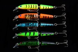 New Bait Canada - 2017 New Arrived 5pcs Jerk Bait 10.5cm 9.6g Crank Bait Lure with Double Fishing Hooks or Two Multi-section Minnow Fishing Lure
