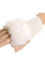 cotton fingerless Canada - Wholesale- SAF 2016 NEW Fashion Women's Wrist Warmer Winter Fingerless Gloves White