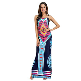 $enCountryForm.capitalKeyWord UK - New African Print Spaghetti Strap Long Maxi Party Dresses Casual Summer Women Boho Sexy Hot Open Back Split Red White