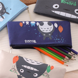 ToToro children bag online shopping - Student Cartoon Miyazaki Totoro Pencil Bags children Oxford cloth Stationery bags Kids cute pencil bags cm