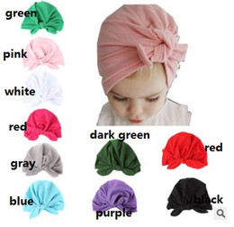 84bae196ff5 Baby Boy Knot Hats Canada - Baby children winter fall cap fashion knotted  rabbit ear soft