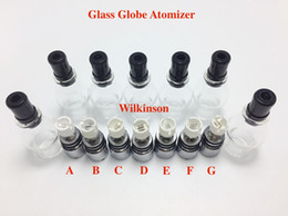 Globe Glasses Australia - DHL Free Wax Atomizer Glass Globe Atomizer Vaporizer Globe Shape Ceramic Coils Single or Dual Or Quartz Coil Glass Wax Atomizers