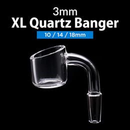 China 3mm Thick 100% Male Female Domeless XL Quartz Banger Nail + Free Glass Carb Cap honey buckets Quartz Nails ceramic nail titanium nails cheap honey bucket titanium nail suppliers