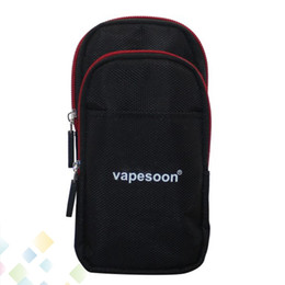Carrying bags Case online shopping - Authentic Vapesoon Carrying Case Vapor Bag Mod Case Multifunction Pouch Bag Outdoor Excise for Running Riding E Cigarette DHL Free