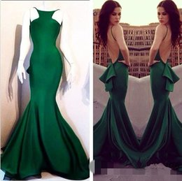 special occasion dresses ship Australia - Fast Shipping Mermaid Prom Dresses Spaghetti Straps Satin vestidos de noiva Open Back Special Occasions Gowns Evening Dresses