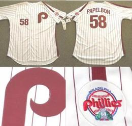 c1afe9292 ... 58 Jonathan Papelbon Philadelphia Phillies Throwback Jersey White 100%  Stitched Embroidery Logos Baseball Jerseys Any Mens Majestic ...