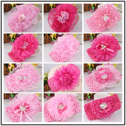 Baby Headwear Hairband Pearl Hello Kitty Headbands Fashion Lace Flowers  Headband Kids Hair Accessories 0947bd47459