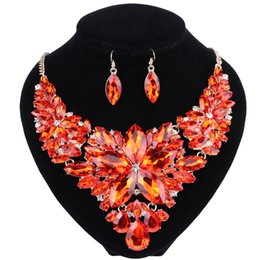 $enCountryForm.capitalKeyWord NZ - Fashion Crystal Wedding Jewelry Sets For Bride Party Costume Accessories Bridal Decorations Necklace Earring Jewelry for Women