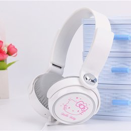 hello cell phones 2019 - Cartoon wire earphone headset cute hello kitty headphones for iphone samsung Mobile Phone MP3 MP4 Computer for iphone sa