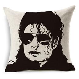$enCountryForm.capitalKeyWord UK - Michael Jackson Dancing Cushion Cover 45*45cm Pillowcase for Bed Seat Sofa Chair Living Room Home Decorative Linen Pillow Case