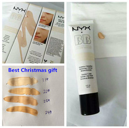 Nyx Products Australia - Christmas 24pcs NYX Concealer BB Cream 30g Moisturizing Foundation 4 Color Naked Makeup Base Isolation Body Concealer Cream Beauty Product