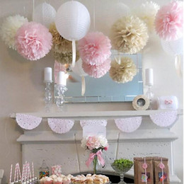 $enCountryForm.capitalKeyWord Australia - Party 50Pcs lot Colorful Pom Poms Flower Kissing Balls Hanging Balloon for Wedding Party Decoration Supplies Cheap Decorations