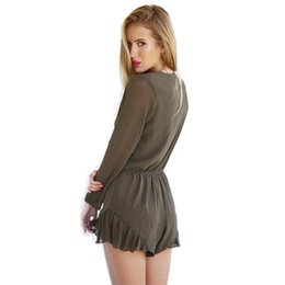 a382001844 Sexy Girls Overalls Shorts Canada - Women s Sexy Deep V Neck Summer  Playsuit Rompers Jumpsuits Beach
