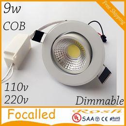 $enCountryForm.capitalKeyWord NZ - high color 9w LED COB down light Recessed LED Ceiling light Spot Light Lamp Cool white  warm white AC85-265V +led Drivers 120angle