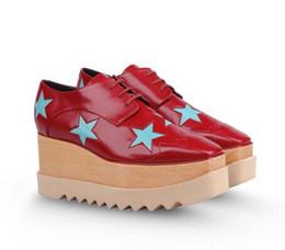 Silver Flower Wedges UK - 2017 new free shipping Black Stella Mccartney Shoes Woman Platform Elyse Wedge Britt Lace-up Shoes