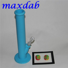 pipe for wax herb Canada - High quality Silicone Wax container with square sheets pads mat silicone bong silicon water pipe dabber tool for dry herb jars dab