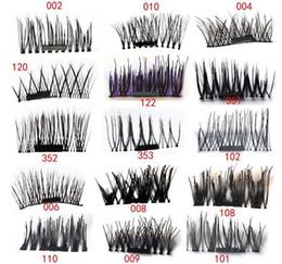 Super hair extenSionS online shopping - Magnet eyelashes Handmade Magnetic eyelashes Cross Thick False Eye Lashes Extension Makeup Super Natural Long False Eyelashes