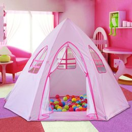 pink tent kids NZ - Princess Castle Tent for Kids, Large Size New playhouse Tent Indoor for Best Birthday Gifts(pink)