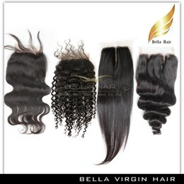 Chinese  Brazilian Pre plucked Closure Unprocessed Closure Human Hair Medium Brown Lace Color Peruvian Malaysian Indian Mongolian Cambodian Mix Style manufacturers