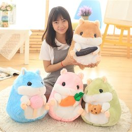 Japan stuff toys online shopping - Hot Sale quot cm Japan Fat Hamster Plush Doll Stuffed Toy For Child Gifts