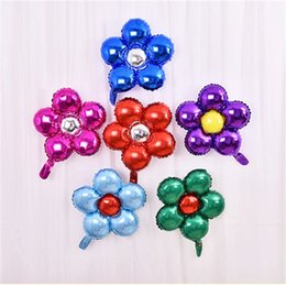 $enCountryForm.capitalKeyWord Canada - 1pcs 50cm five flowers Aluminum foil balloons lovely toys Wedding favors and gifts children's birthday party decoration balloons