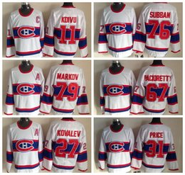 61cac8fc8c6 ... Jersey Throwback Montreal Canadiens Hockey Jerseys 1946 CCM 31 Carey  Price 67 Max Pacioretty 79 Andrei Markov