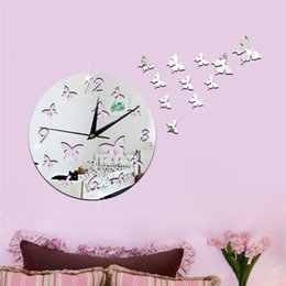 $enCountryForm.capitalKeyWord NZ - Acrylic 3D mirror wall stickers clock Creative Home Decor DIY Hollow butterfly Carved bedroom Removable Decoration Sticker 2017 wholesale