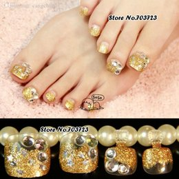 nail art lover artificial false ladyu0027s pre design toenails toes flower in summer z525