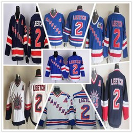 new arrival 214c6 0976a nhl jerseys new york rangers 2 brian leetch a patch white ...