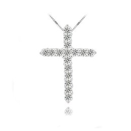 $enCountryForm.capitalKeyWord Australia - 925 Silver Cross Pendant Necklace,925 Sterling Silver with Luxury Austria Crystal,3 Layer Platinum Plated Pendant Necklaces