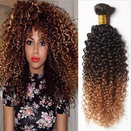 $enCountryForm.capitalKeyWord Canada - Virgin Brazilian Kinky Curly Ombre Human Hair Wefts 3Pcs Lot #1B 4 27 Honey Blonde 3Tone Ombre Brazilian Virgin Human Hair Weave Bundles