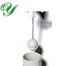 Tea lovers gifTs online shopping - Skull crossbones Tea Infuser Silicone Strainer Loose Leaf Tea Filter Tea Lover cup coffee mug creative gift party supplies Halloween
