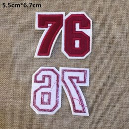 $enCountryForm.capitalKeyWord NZ - Free shipping~76 numbers badge embroidered Appliquesgel patch can be sewn can iron clothes DIY accessory garment bag hot